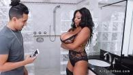 Permalink to Bokep Natural monster tits ebony bangs in shower